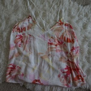 forever 21 floral spagetti straps blouse sz M